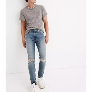 Madewell Ripped Edition Skinny Mens Jeans